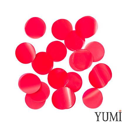 Конфетти круги красные, 35 мм, фото 2