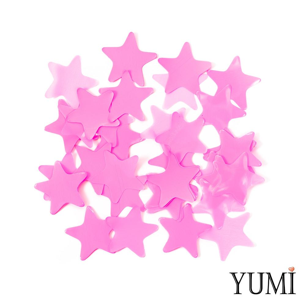 Конфетти звезды розовые, 35 мм