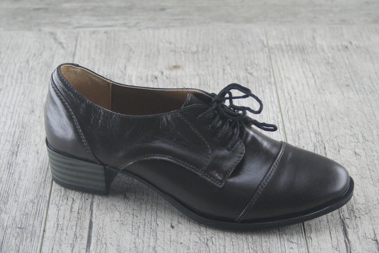 Туфли на маленьком каблуке Foot Step, обувь женская, натуральная, Украина