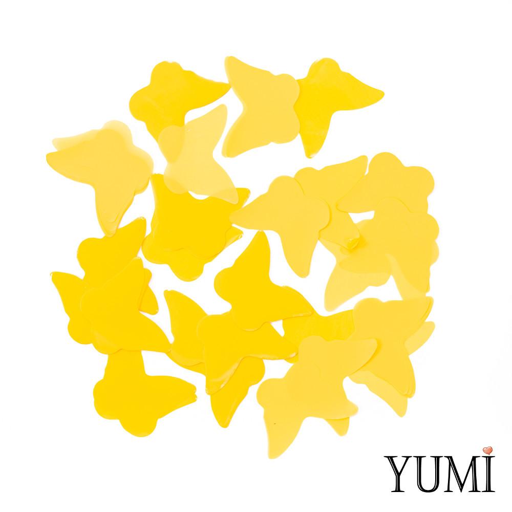 Конфетти бабочки желтые, 35 мм