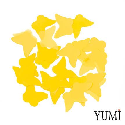 Конфетти бабочки желтые, 35 мм, фото 2