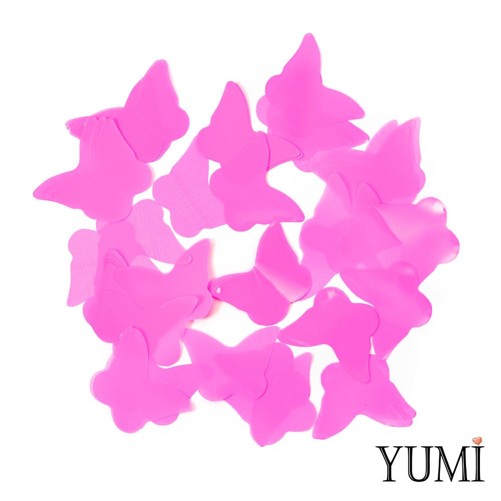 Конфетти бабочки розовые, 35 мм