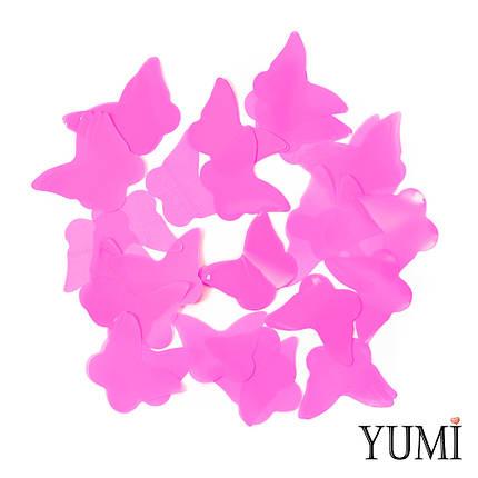 Конфетти бабочки розовые, 35 мм, фото 2