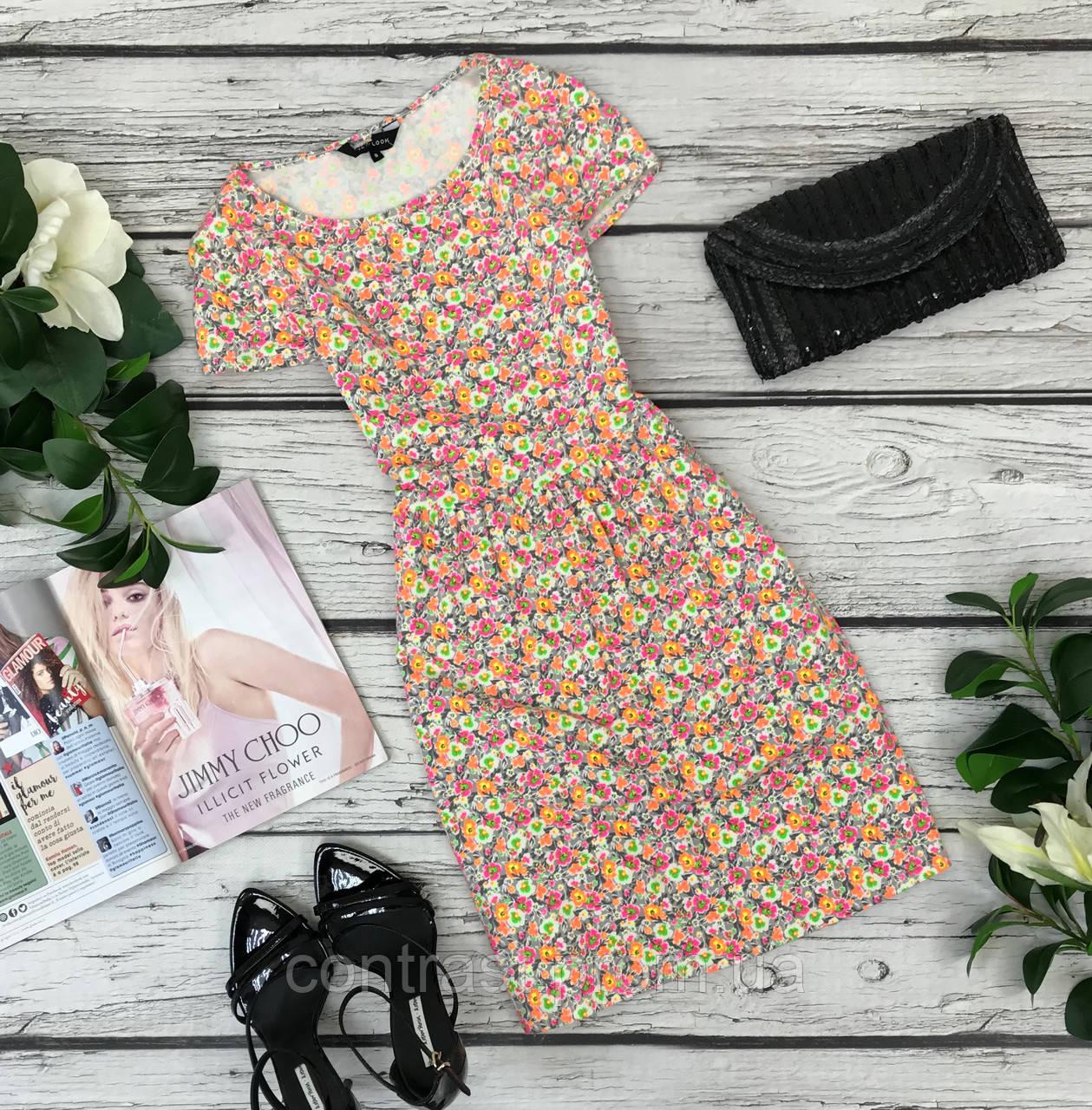 Летнее платье в ярких мелких цветочках  DR1836112