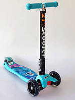 """Детский Cамокат 4х-колёсный складной """"Мультики Disney"""" 403 MZ-1"""