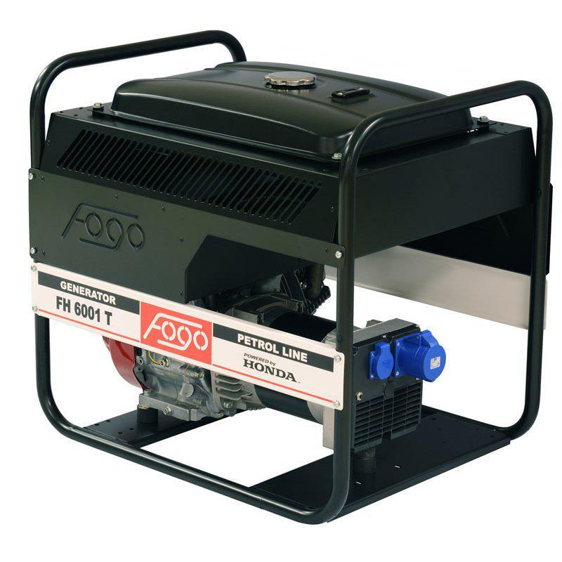 Генератор Fogo FH6001T 1ф-6,3кВт, двиг.Honda, бак-26л, руч.старт