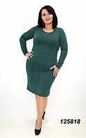 Платье ангора-меланж зеленое 50,52,54,56, фото 1