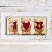 "Шоколадная открытка "" I LOVE YOU "" классическое сырье. Размер: 180х120х5мм, вес 90г"