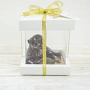 "Объемная шоколадная  фигура ""Щенок"" элитное сырье.Размер 86х61х70мм,вес 135гр,ст.33"
