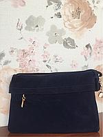 Замшевый клатч сумка через плечо темно-синий Pretty woman Одесса 7 км, фото 1