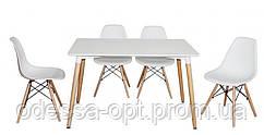 Комплект стол + 4 стула белый
