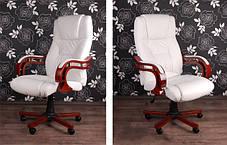 Офисное компютерное кресло PRESIDENT белое, фото 3