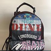 Женская сумка-рюкзак молодежная коричневая Одесса 7 км