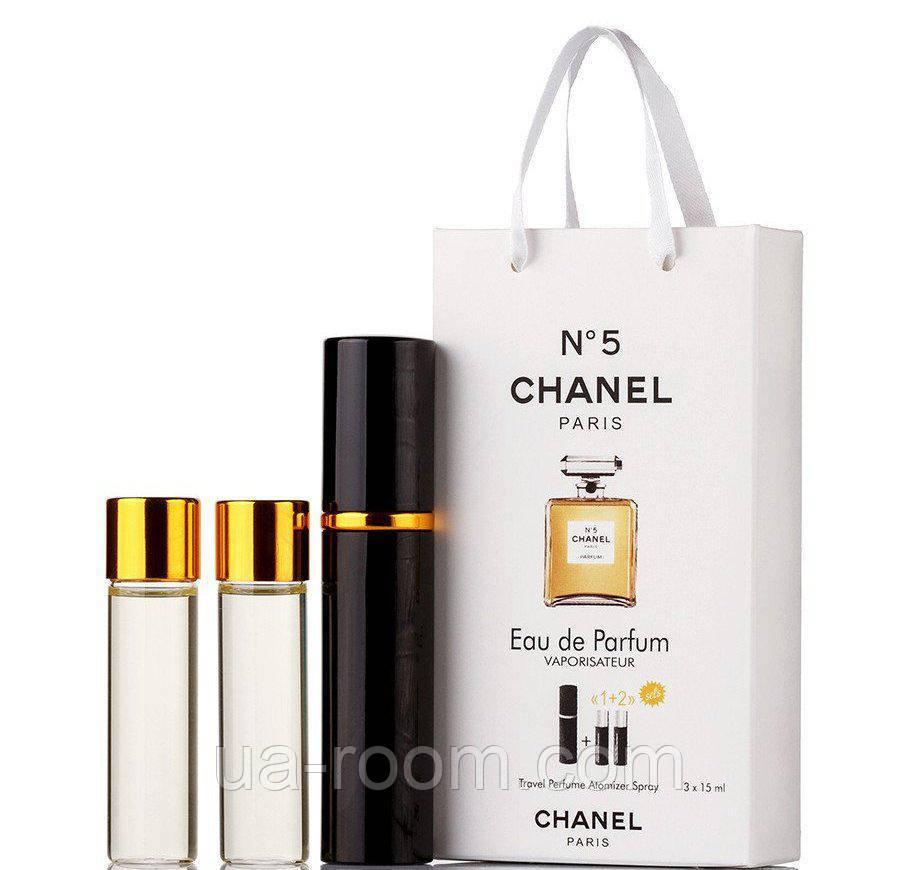 Мини-парфюм женский Chanel N5, 3х15 мл
