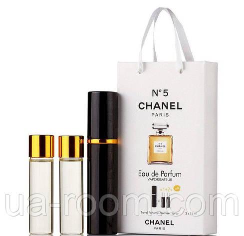 Мини-парфюм женский Chanel N5, 3х15 мл, фото 2