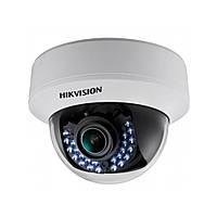 Купольная Turbo HD видеокамера Hikvision DS-2CE56D1T-VPIR3 (2.8-12), фото 1