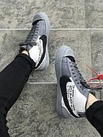 Мужские кроссовки Nike Blazer Mid OFF-White(ТОП РЕПЛИКА ААА+), фото 1