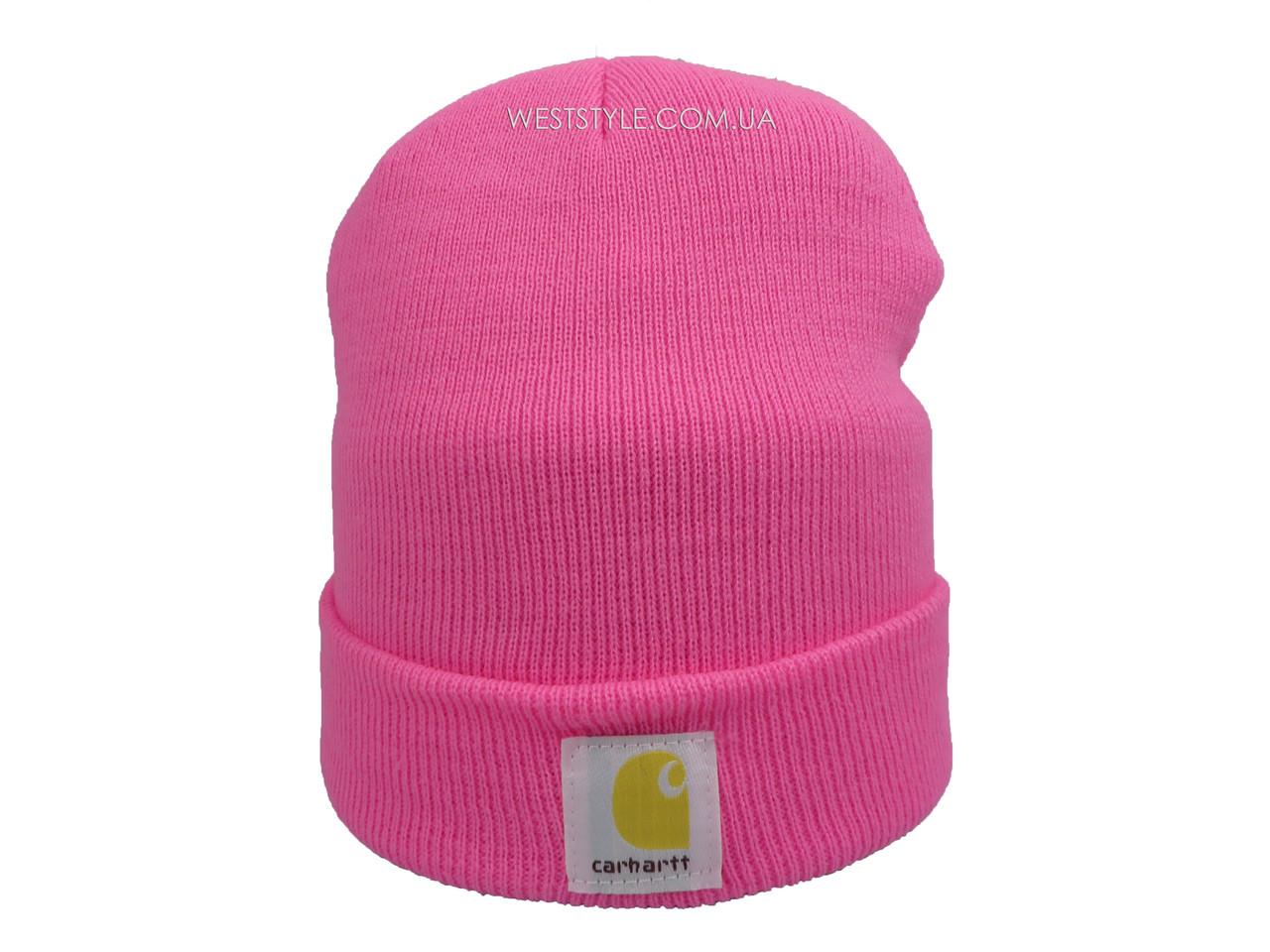 Розовая шапка Carhartt (реплика)