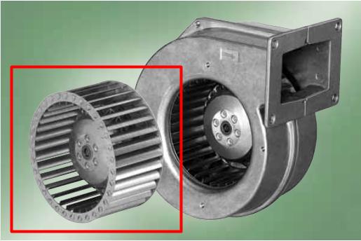 Двигатель с крыльчаткой  для вентиляторов WPA-X2 и WPA-X6