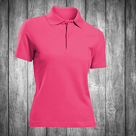 Футболка поло женская розовая Stedman - Sweet Pink СТ3100