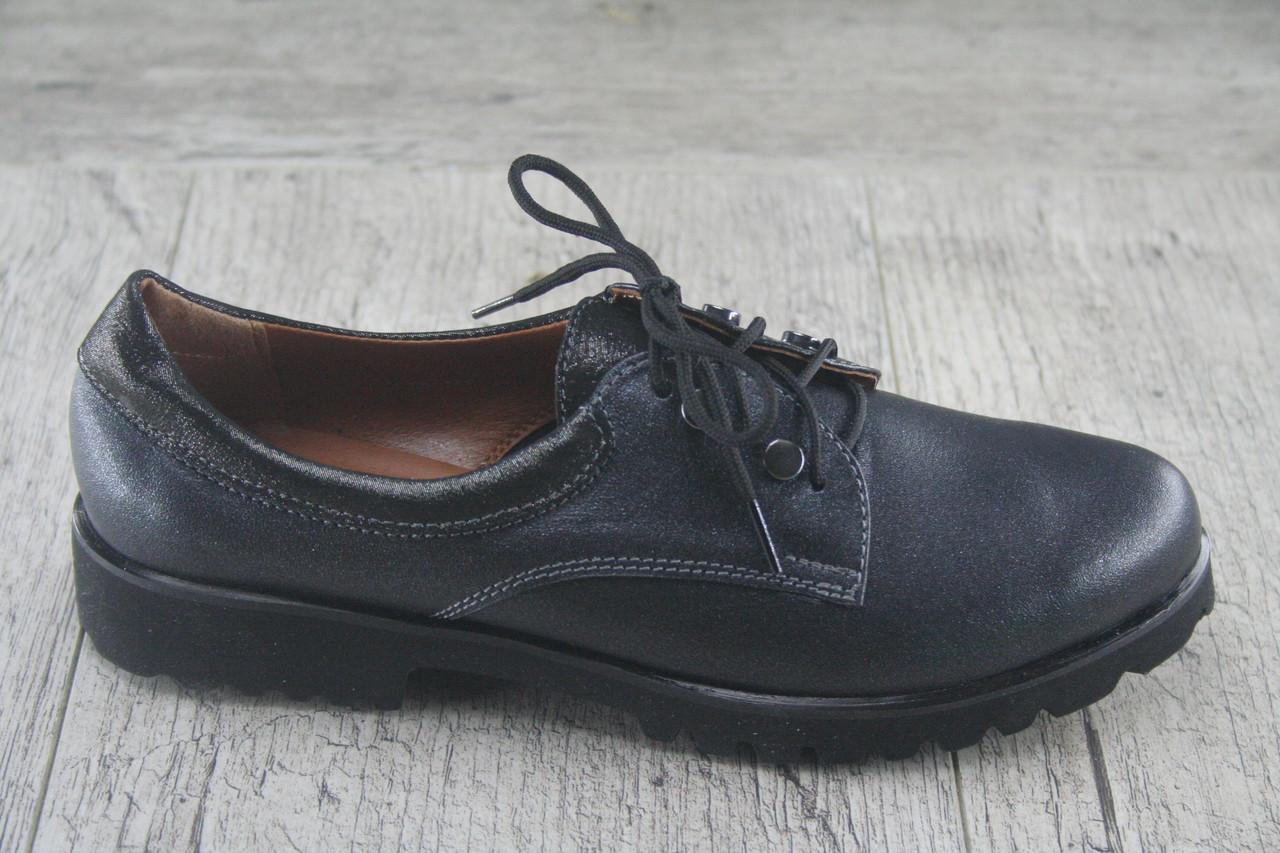 Туфли на плоской подошве Foot Step, обувь женская, натуральная, Украина