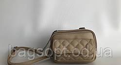 Маленькая бежевая сумочка клатч Одесса 7 км