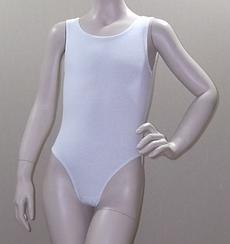Купальник для гимнастики и танцев без рукавов (цвет в ассортименте) XS, Белый