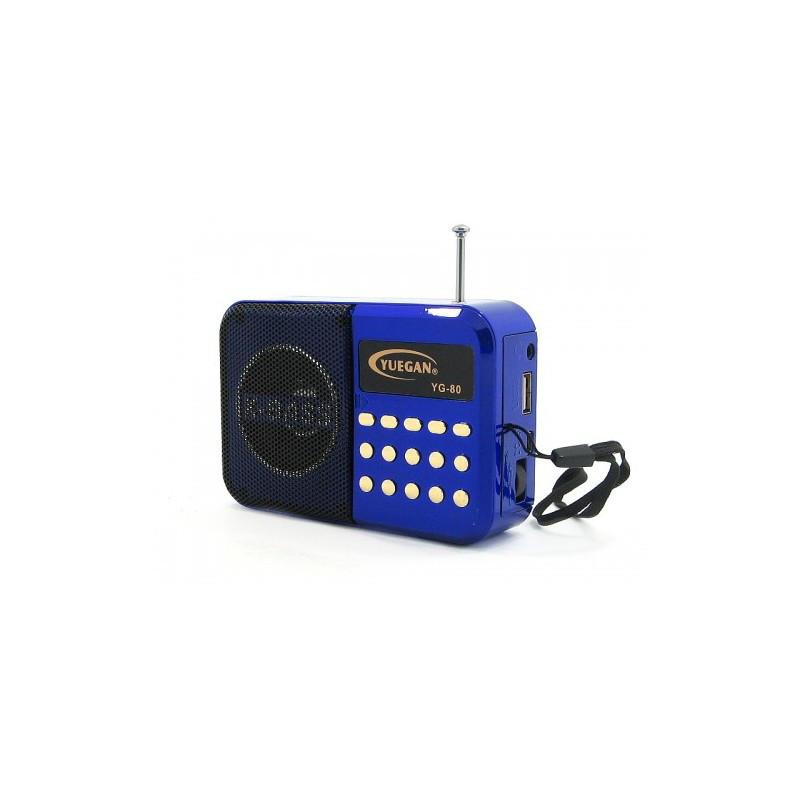 Портативная мини-колонка с часами радиоприемник YG-80 + будильник