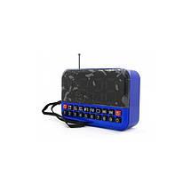 Портативная мини-колонка с часами радиоприемник YG-80 + будильник, фото 3