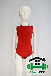 Купальник для гимнастики и танцев без рукавов (цвет в ассортименте) XS, Красный