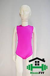Купальник для гимнастики и танцев без рукавов (цвет в ассортименте) XS, Малиновый