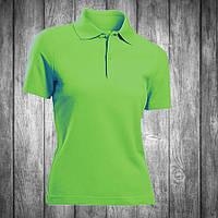 Футболка поло женская зеленая (салатовая) Stedman - 00729