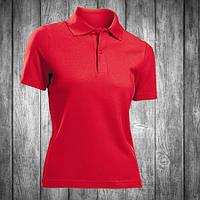 Футболка поло женская красная Stedman - Scarlet Red СТ3100