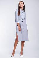 Офисное платье-рубашка  длиной до колена, фото 1