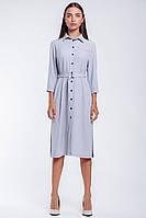 Офисное женское платье-рубашка  длиной до колена, фото 2