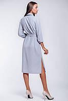 Офисное женское платье-рубашка  длиной до колена, фото 3