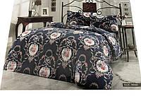 Комплект постельного белья Le Vele Ellis Indigo фланелевый 220-200 см, фото 1
