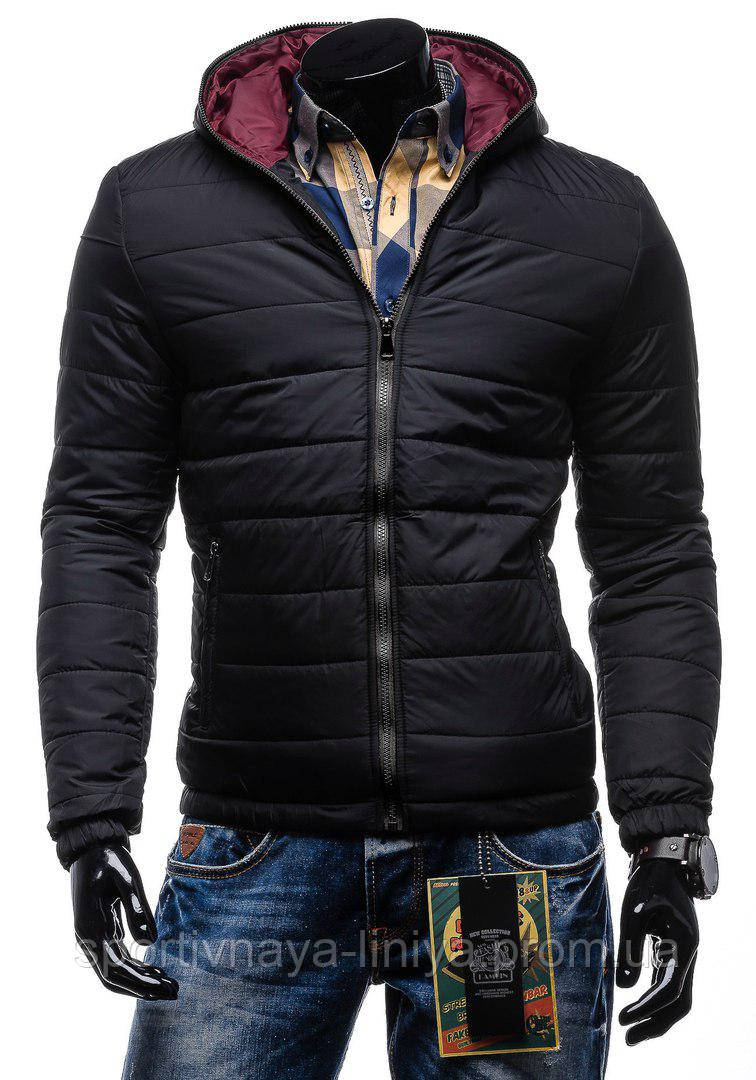 Мужская черная зимняя куртка
