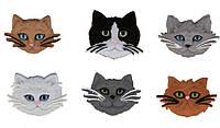 Декоративные пуговицы Коты