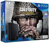 PlayStation 4 Slim 1TB (CUH-2108B) Bundle + игра Call of Duty WW2  v5.05, фото 1