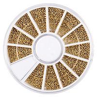 Бульонки для ногтей в карусели (золото)