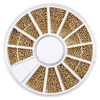 Бульонки для нігтів в каруселі (золото)