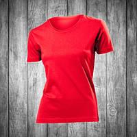 Футболка женская красная с круглым вырезом Stedman - Scarlet Red СТ2600