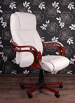 Офисное массажное кресло PRESIDENT белое, фото 2