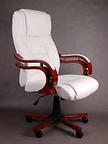 Офисное массажное кресло PRESIDENT белое, фото 3