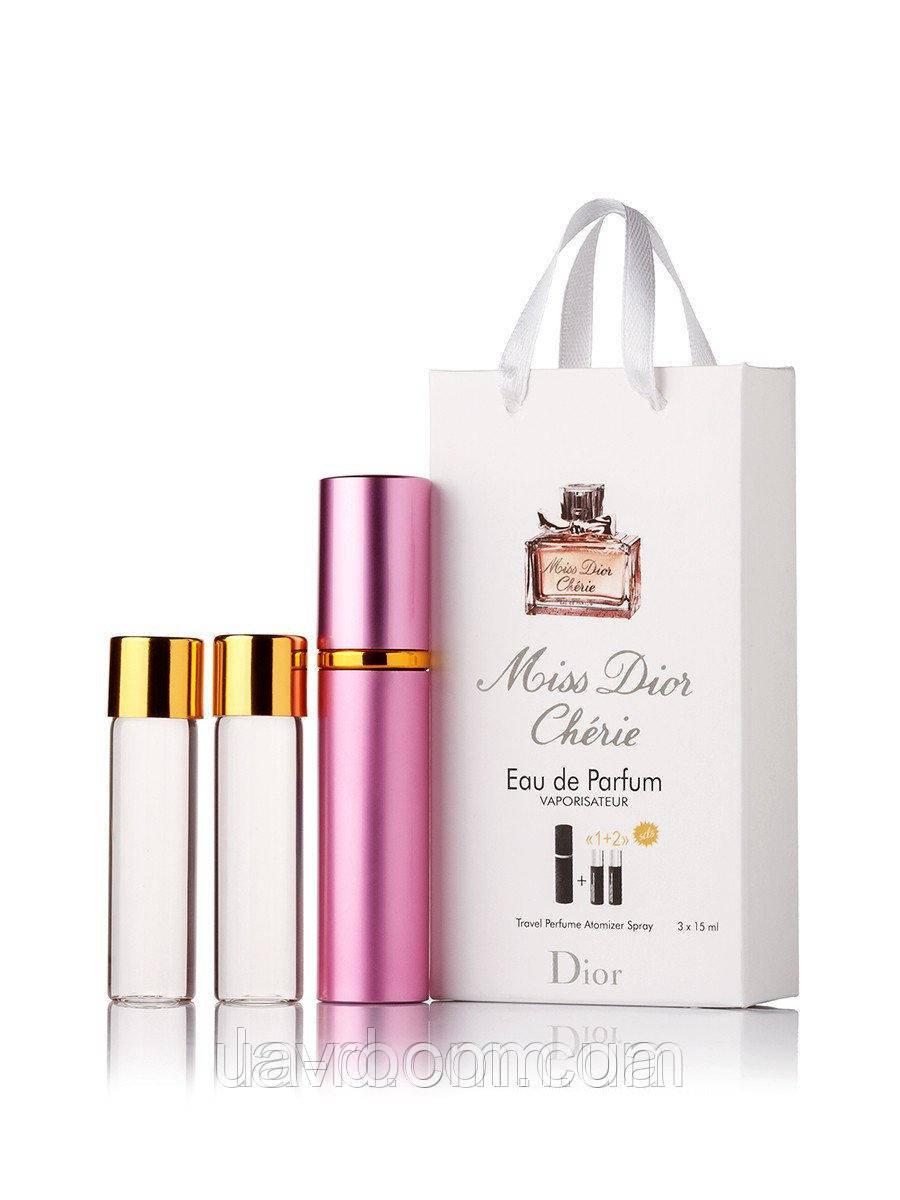 Мини-парфюм женский Christian Dior Miss Dior Cherie, 3х15 мл