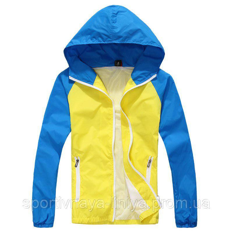 Мужская желтая демисезонная куртка (ветровка)