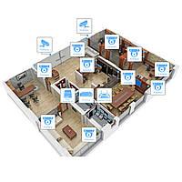 IP видеонаблюдение 12 камер (2Мп) для офиса