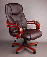 Офисное массажное кресло PRESIDENT коричневое