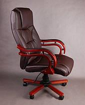 Офисное массажное кресло PRESIDENT коричневое, фото 3